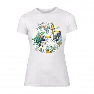 Дамска бяла тениска Exotic Life