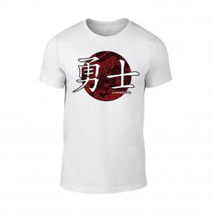 Мъжка бяла тениска Warrior