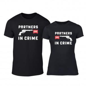 Тениски за двойки Partners in Crime черни