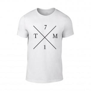 Мъжка бяла тениска TM71