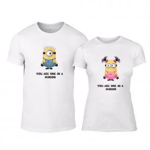 Тениски за двойки One in a Minion бели