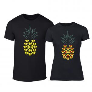 Тениски за двойки Pineapple черни