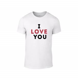 Мъжка тениска I love you, размер XXL