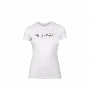 Дамска тениска His girlfriend, размер L