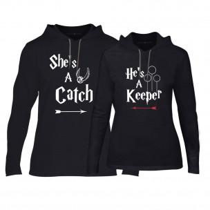 Суичъри за двойки Catch/Keeper в черно