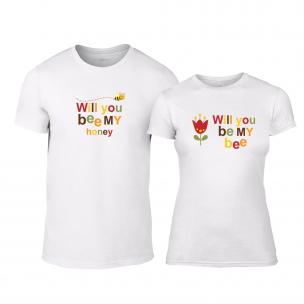 Тениски за двойки Bee & Honey бели