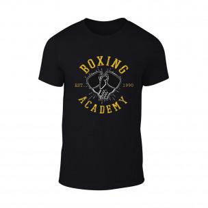 Мъжка черна тениска Boxing Academy