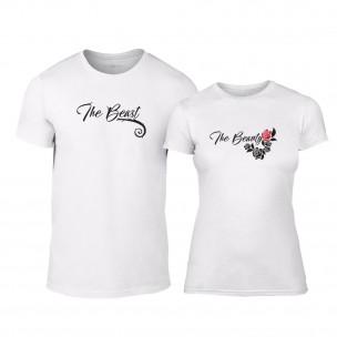 Тениски за двойки Тhe Beauty & The Beast бели