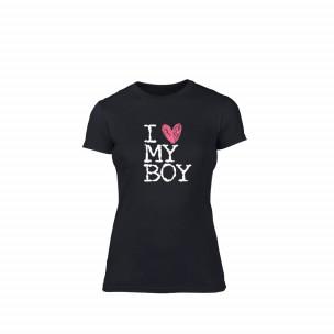 Дамска тениска  Love My Boy размер M