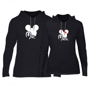 Суичъри за двойки Mr. Mickey Mrs. Minnie в черно