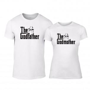 Тениски за двойки Godfather & Godmother бели