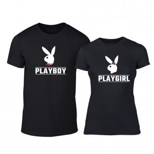 Тениски за двойки Playboy черни