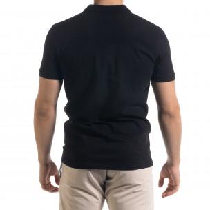 Basic мъжка черна тениска Polo shirt  2