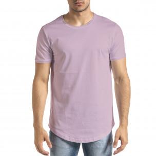 Basic мъжка тениска в светло лилаво
