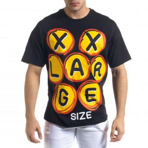 Мъжка черна тениска XXLarge Oversize