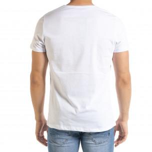 Мъжка тениска Panda Grass в бяло 2