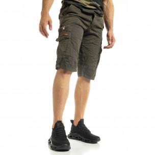 Мъжки зелени къси карго панталони