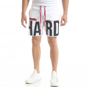 Мъжки бели тренинг шорти HARD