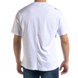 Мъжка бяла тениска The Beatles Oversize   2