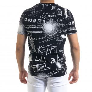 Мъжка черна тениска Graffiti 2