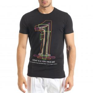 Черна мъжка тениска 1