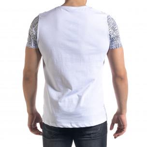 Мъжка бяла тениска с принт Brooklyn  2