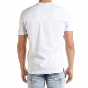 Мъжка бяла тениска Keep on Rising 2