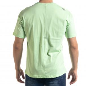 Мъжка зелена тениска The Beatles Oversize  2