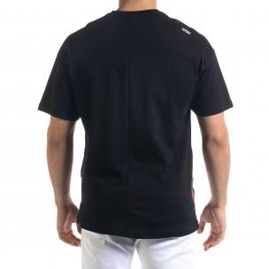 Мъжка черна тениска Signs Oversize 2