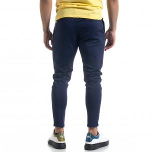 Мъжки син панталон с аксесоар  2