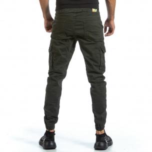 Зелен Cargo Jogger панталон с ластик на кръста Blackzi 2