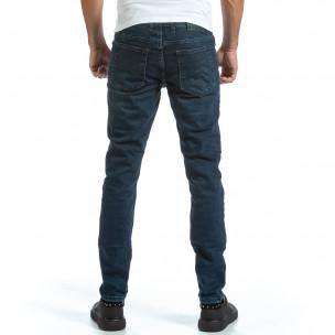 Basic Long Slim мъжки сини дънки 2