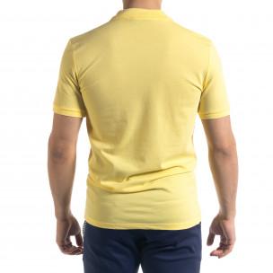 Мъжка тениска пике polo shirt в жълто  2