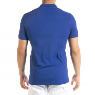 Basic Polo мъжка тениска кралско синьо  2