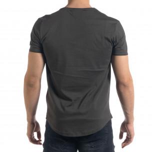 Basic мъжка тениска в милитъри зелено  2