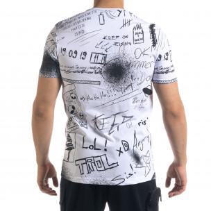 Мъжка бяла тениска Graffiti 2