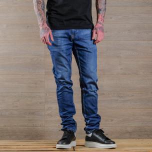 Basic Slim fit мъжки сини дънки  2