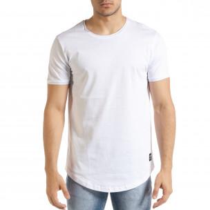 Basic мъжка тениска в бяло