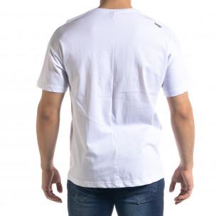Мъжка бяла тениска SAW  2