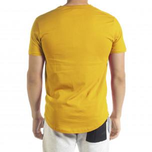 Basic мъжка тениска в жълто 2