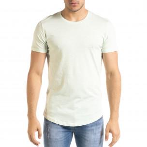 Basic O-Neck зелена тениска