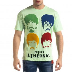 Мъжка зелена тениска The Beatles Oversize