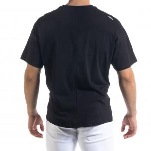 Мъжка черна тениска XXLarge Oversize  2