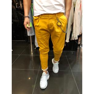 Мъжки камел панталон с аксесоар  2