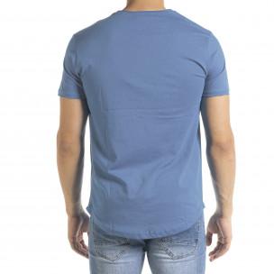 Basic O-Neck тениска цвят деним 2