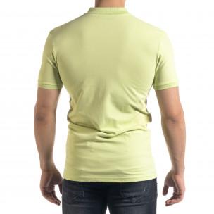 Мъжка тениска пике Polo shirt в зелено  2