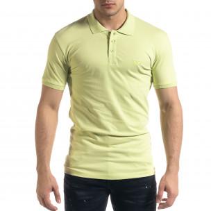 Мъжка тениска пике Polo shirt в зелено