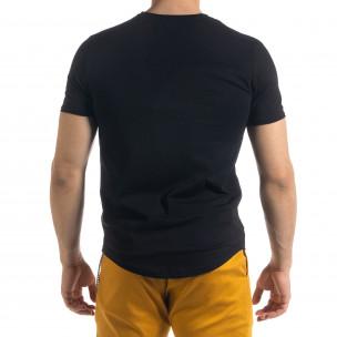 Basic мъжка тениска в черно  2