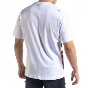 Мъжка бяла тениска Signs Oversize  2