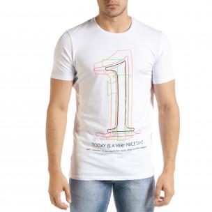 Бяла мъжка тениска 1